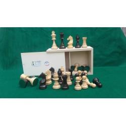 Jeu d'échecs buis N° 5 – Teinté poli (Antique et Naturel)