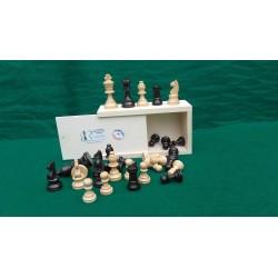 Jeu d'échecs buis N° 2  Teinté polis (Antique et Naturel)
